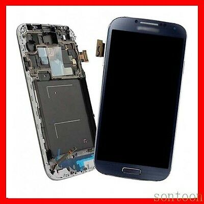 DISPLAY LCD TOUCH SCREEN + FRAME per SAMSUNG  BLU GALAXY S4 i9505 MARINO SCHERMO