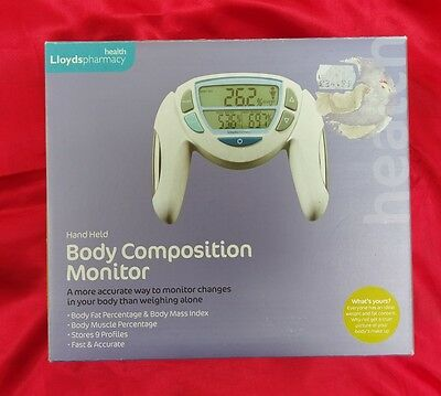 New Lloyds Pharmacy Health Hand Body Composition Monitor Body Fat Mass Index