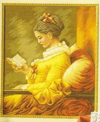 The Reader by Jean-Honore Fragonard - Cross Stitch Chart - Free Postage