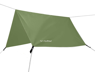 10 x 10 FT Lightweight Waterproof RipStop Rain Fly Hammock Tarp Cover Tent Shelt