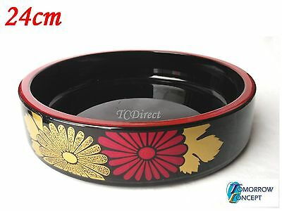Japanese Sushi Round Bento Box Bowl Tray for Lunch Dinner Restaurant Party 24cm