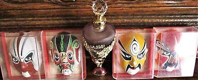 "4 3"" Minature Hand-Painted Chinese Masks in Box by Jy Yan Art. Co. (Lien P'o)"