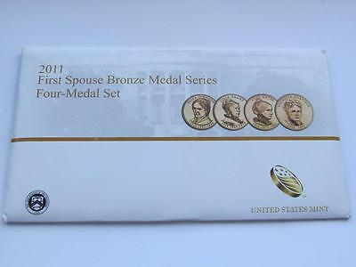 United States Mint USA First Spouse 4 Bronze Medal Set Dated 2011