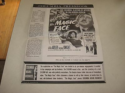 Columbia Pressbook ,the Magic Face (1951) See Hitler Slain In Love Nest! 1951