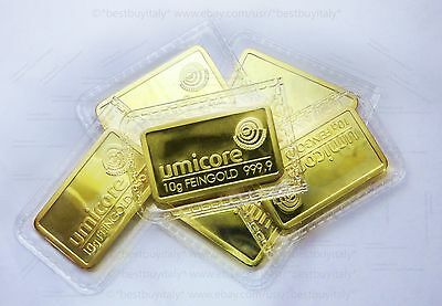 (IT) X6 10g Replica lingotto oro puro Umicore 9999,lingot or,gold barren,bullion