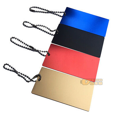 Personalized Engrave Metal Luggage Tag Anodized Aluminium Travel ID Tags + Chain