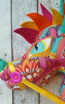 Childrens Hobby Horse Dragon - Handcrafted - Summer clearout