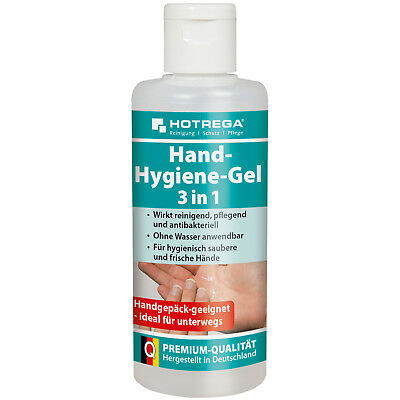 (44,50 EUR/L) Hotrega Hand Hygiene Gel 3 in 1 100ml Desinfektion antibakteriell