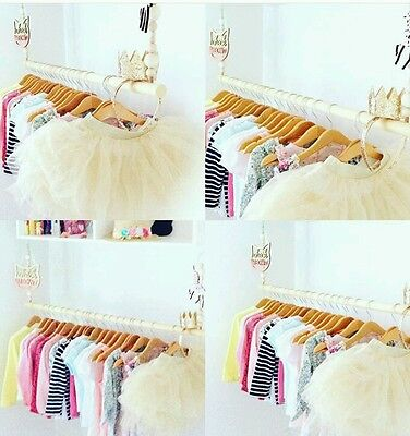 40cm Wooden Hanging Clothes Rail Rack Bedroom Wardrobe storage