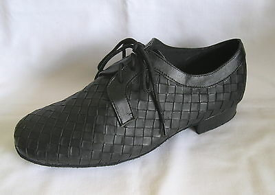 Mens Black Patterned Ballroom, Latin, Salsa, Jive Dance Shoes - UKSizes 8.5 - 12