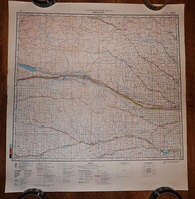 Authentic Soviet USSR Army Military Topographic Map North Platte, Nebraska USA