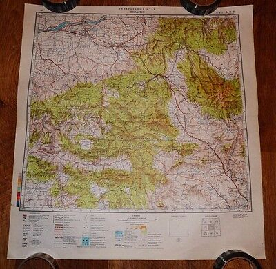 Authentic Soviet USSR Army Military Topographic Map Pendleton, Oregon USA #78