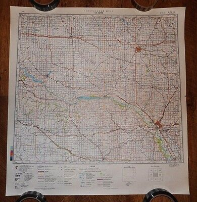 Authentic Soviet USSR Army Military Topographic Map SIOUX CITY, Iova USA #17