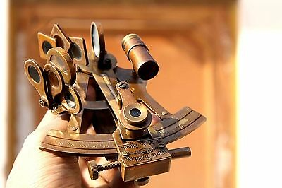 Nautical Marine ANTIQUE BRASS R.M.S TITANIC SEXTANT vintage Collectible Gift.