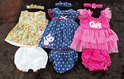 #B160, New 9 Pcs/3 Set Baby Girl Clothes For Baby Girl 6-9 Months