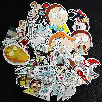 35pcs Rick And Morty Car Sticker Random Character Sticker DIY Good Quality New