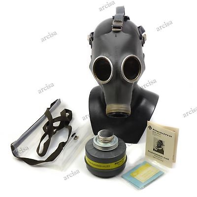 Genuine Finnish Army gas mask M-62. Full set Finland military gas mask boxed