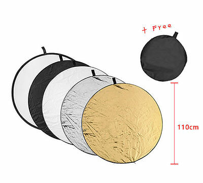 Photography 5 in1 Light Mulit Collapsible Photo  Reflector 43-inch /110cm