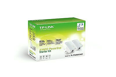 TP-Link 600Mbps Nano Powerline Ethernet Adapter Home Plug Twin Pack TL-PA4010KIT