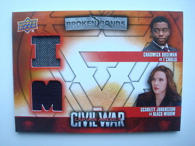 2016 **Captain AMERICA Civil War** Dual Costume Card BBI-TB Black WIDOW ScarJo