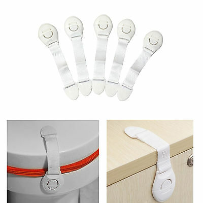5pcs Child Infant Baby Kid Drawer Door Cabinet Cupboard Toddler Safety Lock Lach