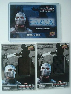 LOT**Captain AMERICA Civil War** Auto/AutoGraph/Costume Cards Grillo CROSSBONES