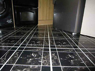 50 Vinyl Floor Tile Self Adhesive Dark Marble Area sqm 4.6 Unit 50