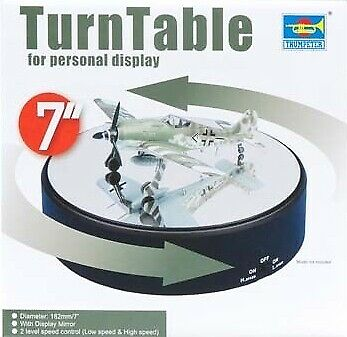 Espositore Girevole - Turntable Display dim. 18cm. 2 Speed for Models TRUMPETER