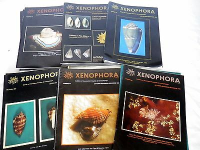 lot 19 revues conchyliologie, collection coquillage  XENOPHORA   trimestriel