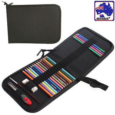 48 Holes Foldable Canvas Pen Pencil Case Bag Storage Pouch Holder SPBAG 0048