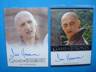 LOT **GAME Of THRONES**GoT Season 2/3 Auto/AutoGraph Cards HANMORE as PYAT PREE
