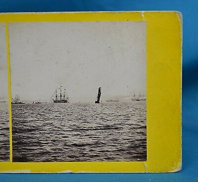 1860s Stereoview Photo No228 Channel Fleet In The Firth Of Forth GW Wilson