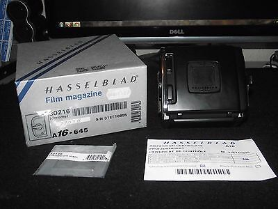 Hasselblad A16 Chrome Magazine Back 645 (Late)    Mint,superb Condition!!!!!!!!