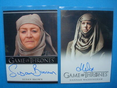 LOT **GAME Of THRONES**GoT Season 2/5 Auto/AutoGraph Cards BROWN Waddingham
