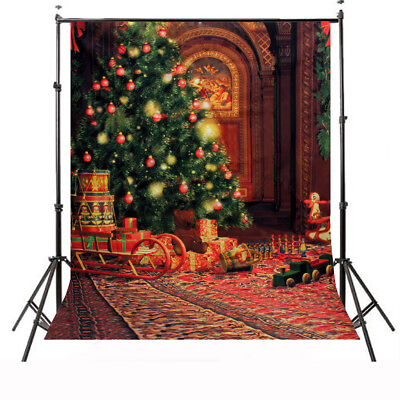 5x7FT Merry Christmas Gifts Vinyl Wall Photography Backdrop Photo Background US