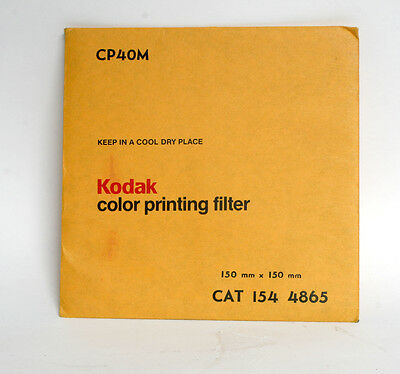 Kodak 150mm x 150mm Colour Printing Filter CP40M