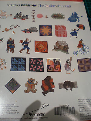 NEW STUDIO BERNINA DECO BERNETTE THE QUILT MAKERS GIFT Embroidery No 154
