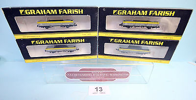 Graham Farish 'n' Rake Of 4X 373-404 Zda Open Plank Dutch Br Wagons Boxed #13