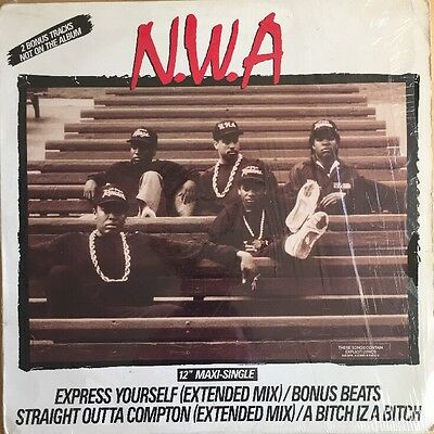 "Nwa Express Yourself 12"" Ep Ruthless 1989 Usa First Press Still In Shrink"