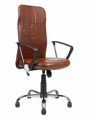 Leather Reclining Swivel Tilt Computer Office Desk Chair Furniture Adjustable