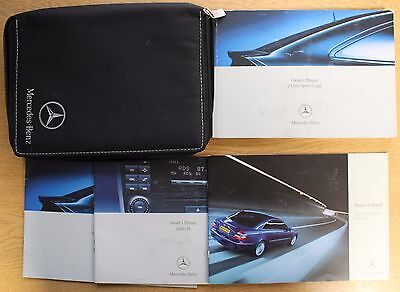 Mercedes C Class Sports Coupe Owners Manual Handbook 2004-2008 Pack 14280