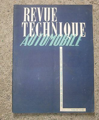 RTA revue technique automobile n°37 mai 1949 ford V8 13ch