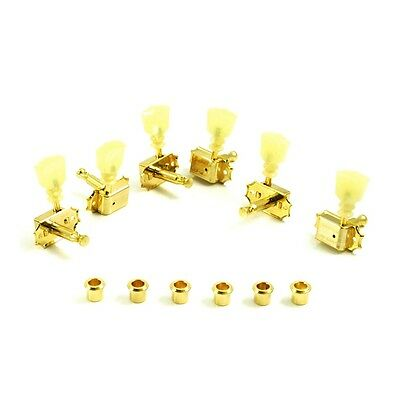 Kluson 3 Aside Tulip Double Ring Tuners - Double Line Kluson Stamp