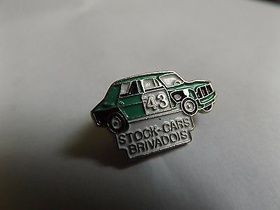 Vintage Enamel Pin Badge - Stock Cars Brivadois - French France