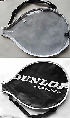 Dunlop Force 19 Tennis Racket Cover Bag 40.5x27cm Black