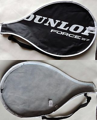 Dunlop Force 27 Tennis Racket Cover Bag 52x29.5cm Black