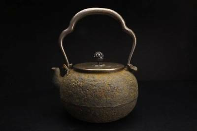 Ryubundo Japanese Iron Tea Kettle Tetsubin teapot Lotus flower Copper lid