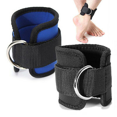 Ankle Strap D-ring Thigh Leg Pulley Gym Weight Lifting Multi Cable Attachmentl4C