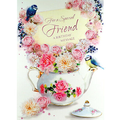 Birthday Card For Special Friend Lovely Female Happy Greetings Card