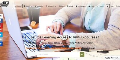 600+ Online course e learning website for sale Home Business Make Money Online